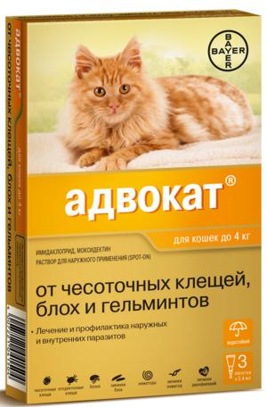 Средство для лечения кошек от блох